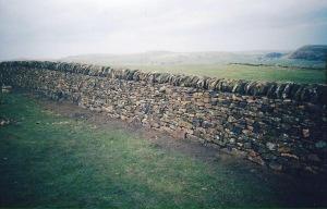 Dry stone wall Derbyshire